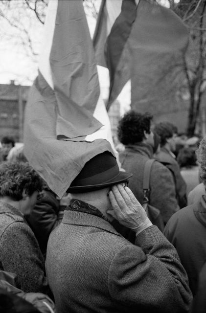 HUNGARY. Budapest. 24/03/1989: Pro democracy demonstrations announcing the regime change.